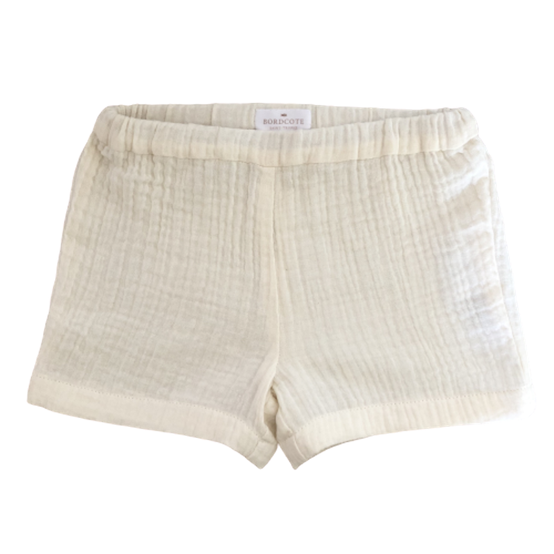 SHORT GAZE DE COTON - FIBRES NATURELLES - Made in France - À Saint-Tropez.