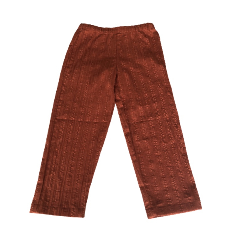 PANTALON ECO FRIENDLY - GAZE DE COTON - FIBRE NATURELLE - Made in France - À Saint-Tropez.