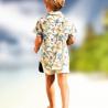 CHEMISE ENFANT HAWAÏENNE GAZE DE COTON - Vêtement de créateur - Fait à Saint-Tropez - Handmade
